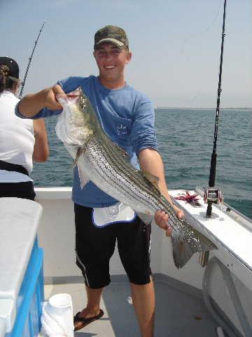 Cape Cod, MA Striper Fishing Charter